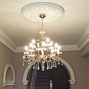 archways, paneling and ceiling roses